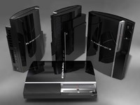 playstation 3 3d model