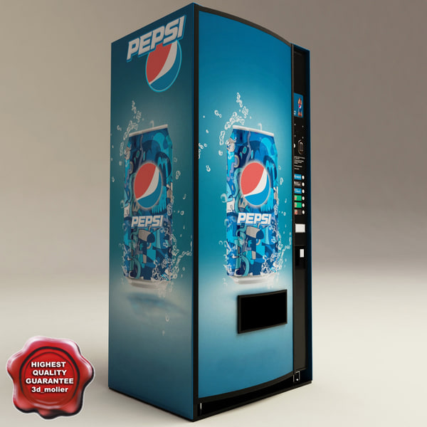 pepsi vending machine 3d model