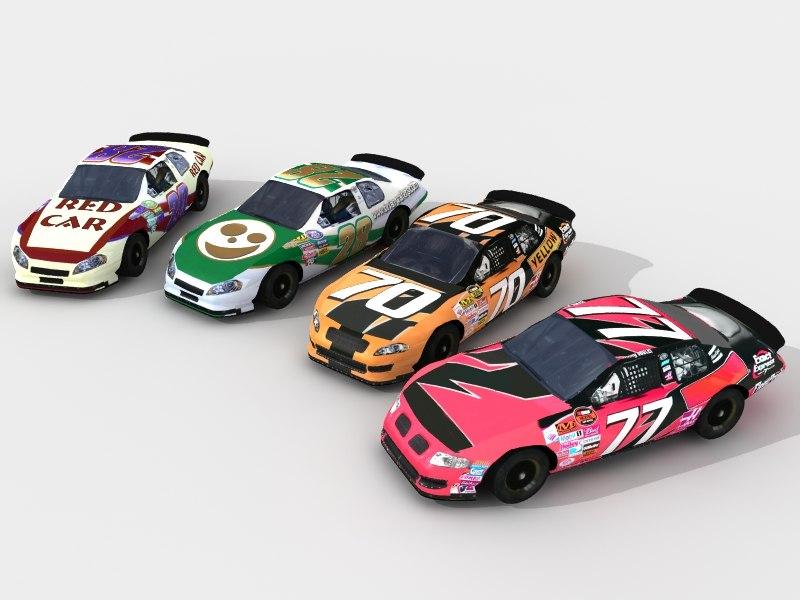 race cars 3d model