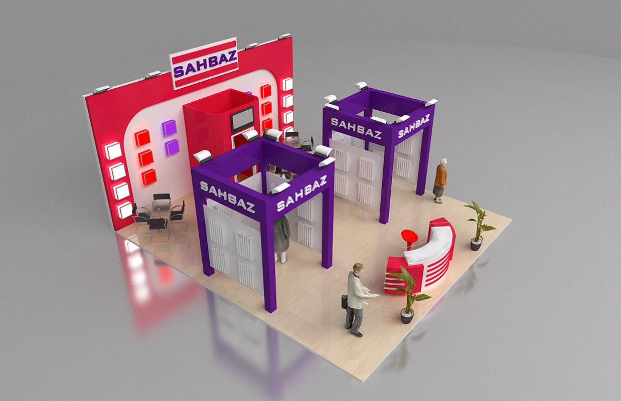 sahbaz fair stand 3d model
