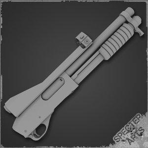 masterkey shotgun 3d model