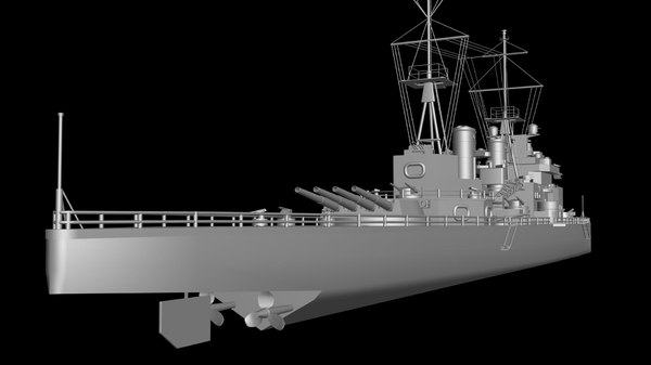 king george v battleship 3d max