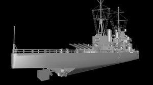 king george v battleship 3d max