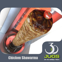chicken shawarma 3d model