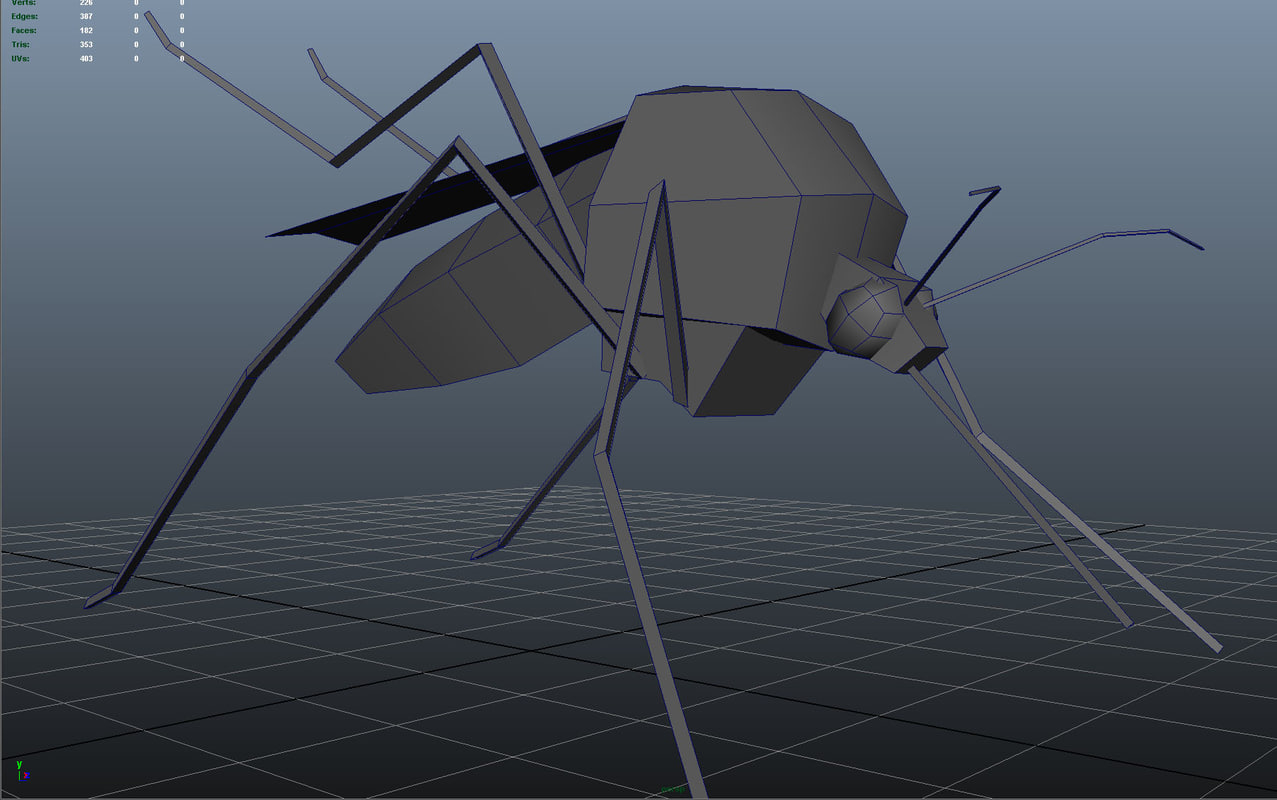 mosquito bug 3d model