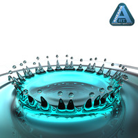 crown water drop 3d model