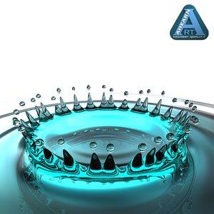 crown water drop 3d model