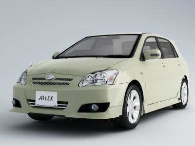 toyota allex 3d model