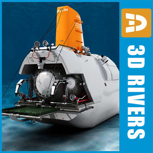 bathyscaphe alvin 3d model