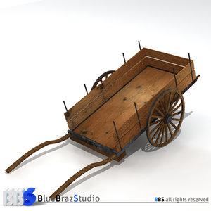 ancient chariot 3d model