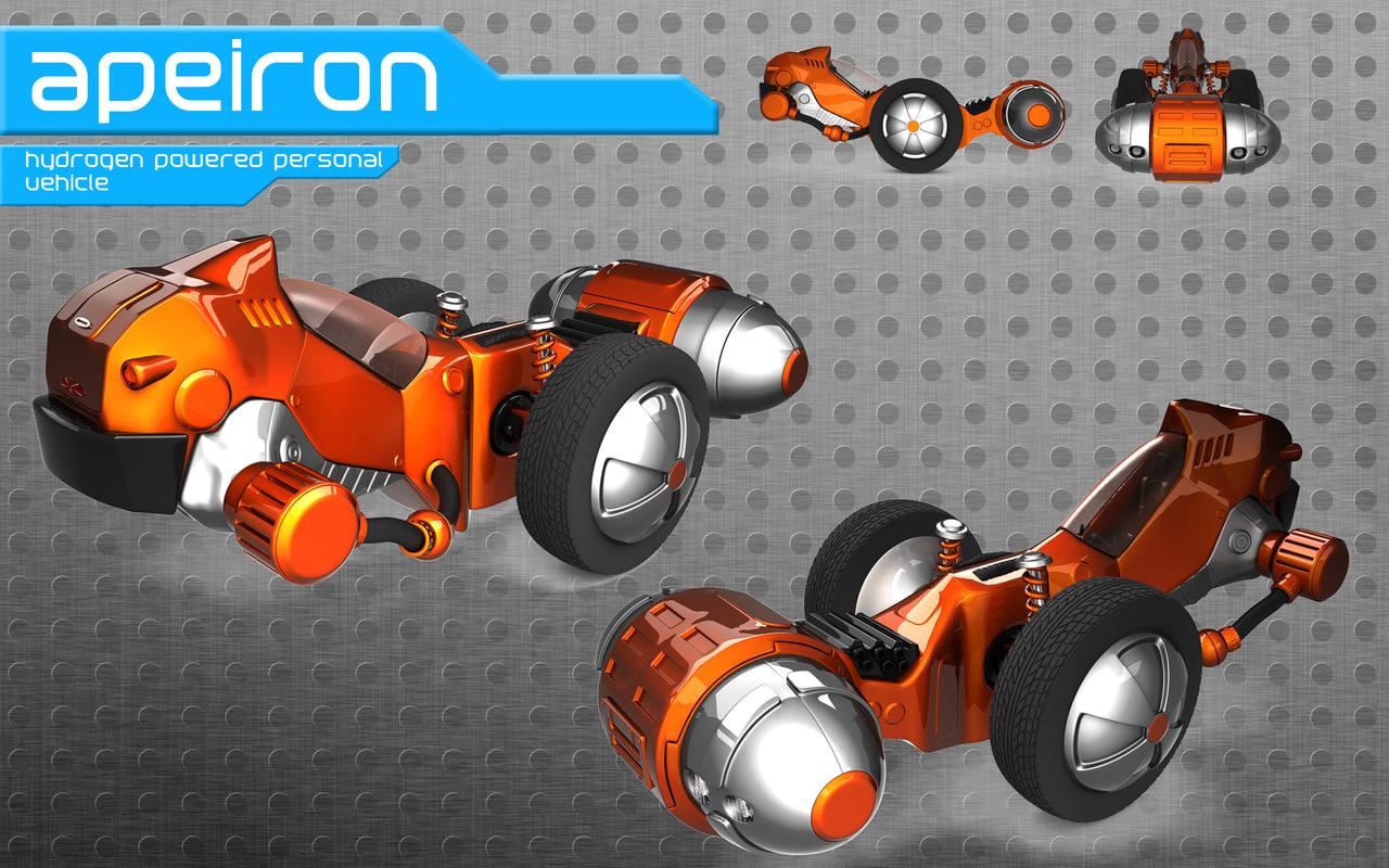 free futuristic car apeiron vehicle 3d model