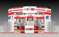 aren exhibition fair design 3d model