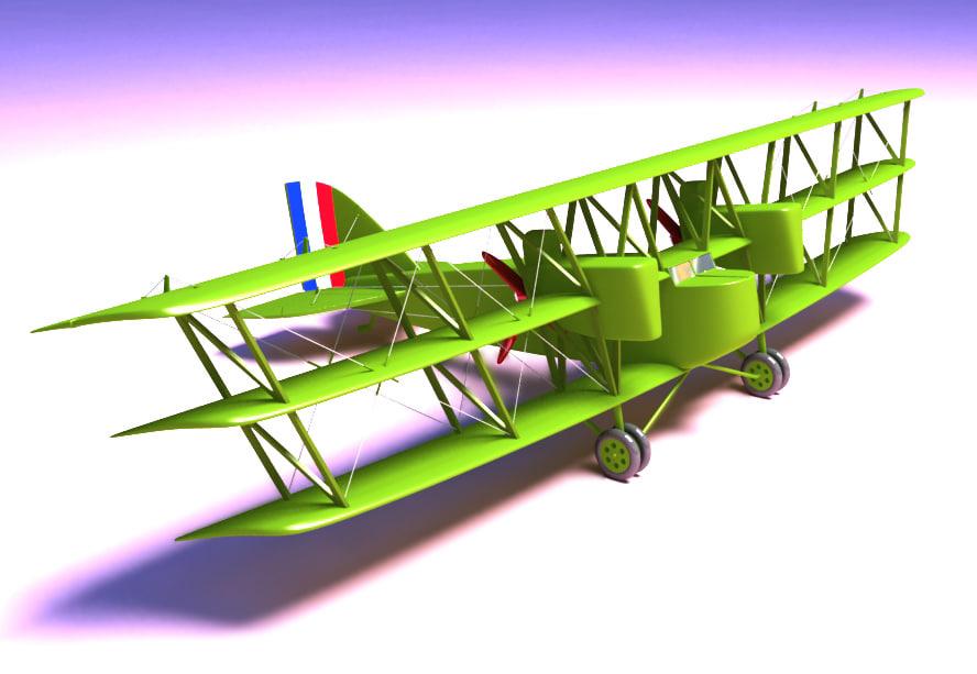 boing ga-1 triplanes 3d model