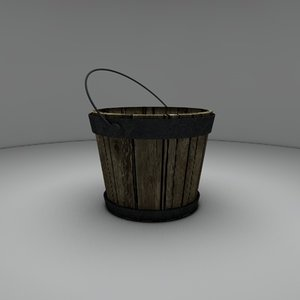 bucket wood 3d model
