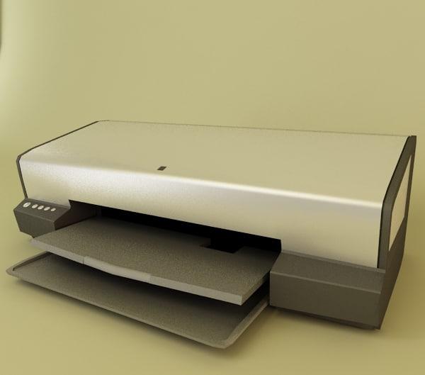 printer office 3d model