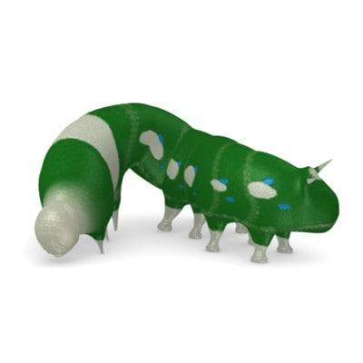 butterfly worm 3d model