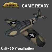 airplane plane combat 3d model