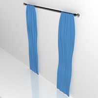 Curtains with curtain rod