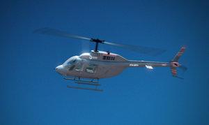 bell 206b jetranger helicopter 3d model