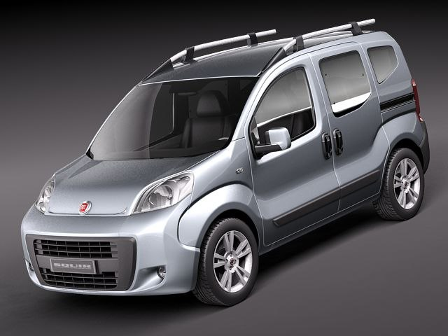 fiat fiorino qubo van 3d model. Black Bedroom Furniture Sets. Home Design Ideas
