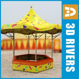 fair booth 3d model
