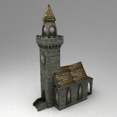 fantasy city hall 3d model