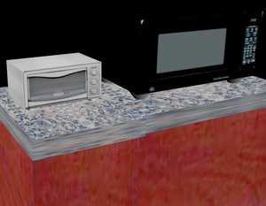 free black toaster oven microwave 3d model