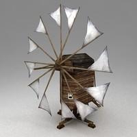 medieval windmill 3d model