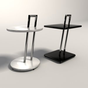 eileen gray occasional tables 3d model