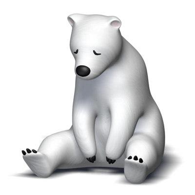 sleeping polar bear 3d model