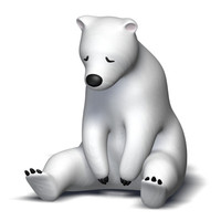 sleeping polar bear 3d model