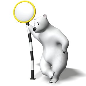 standing polar bear 3d model