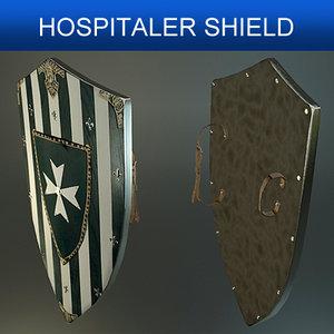 shield hospitalers 3d model