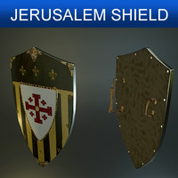 shield jerusalem 3d model