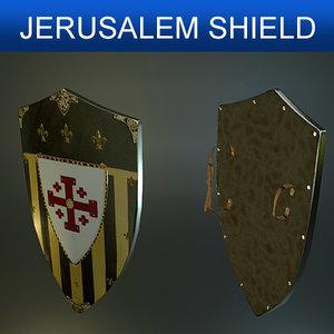 shield jerusalem 3d model