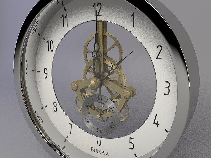 bulova wall clock 3d model