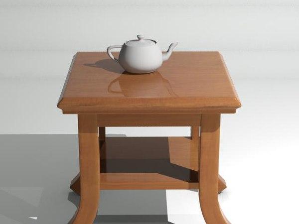 free table living room 3d model