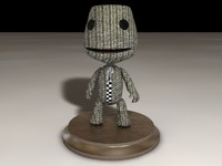 sackboy little big 3d model