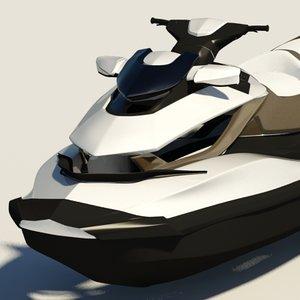 seadoo gtx sea 3d model