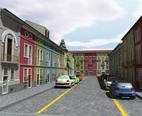 sidestreet street city 3d model