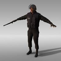 swat police 3d model