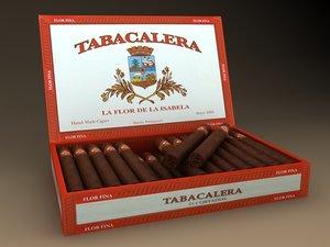 cigar box tabacalera 3d max