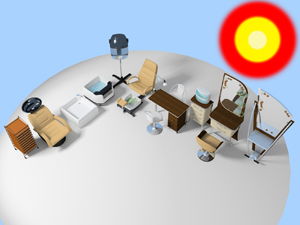 massage salon 3d model