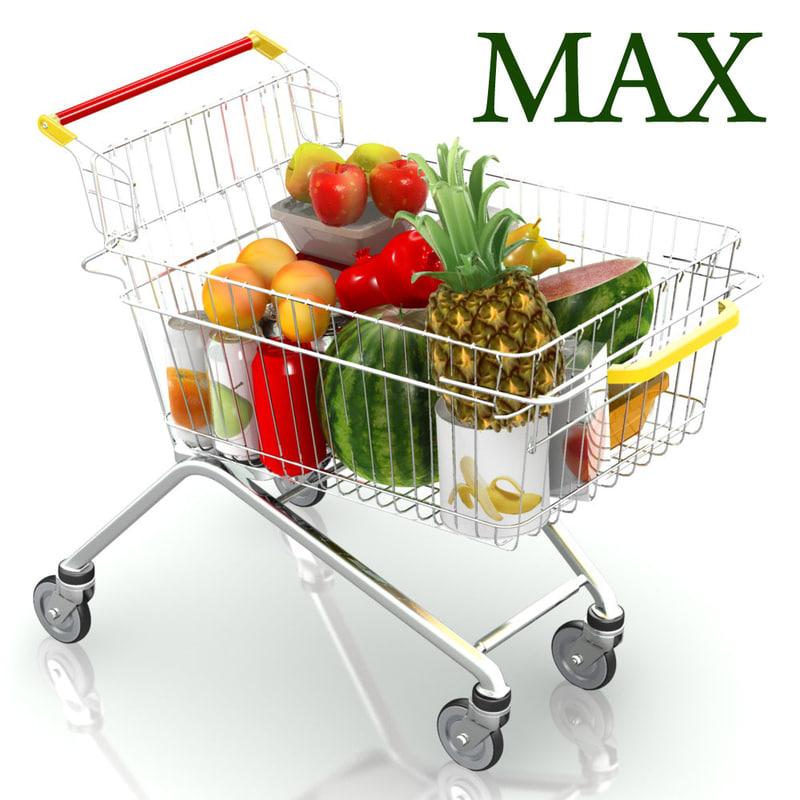 shopping trolley 3d model