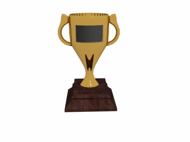 free golden trophy 3d model