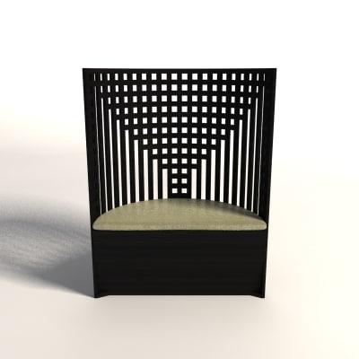 charles rennie mackintosh willow 3d model. Black Bedroom Furniture Sets. Home Design Ideas