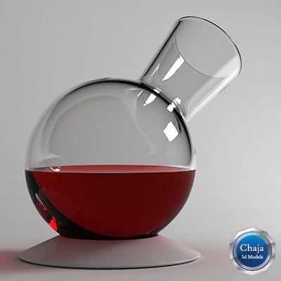decanter wine 3d model