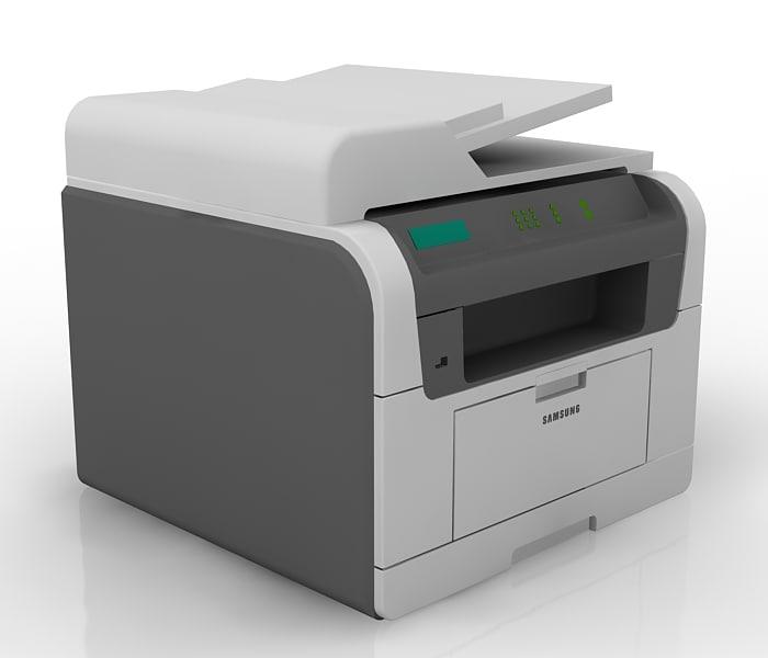 beautiful samsung printer scx-5635fn 3d model