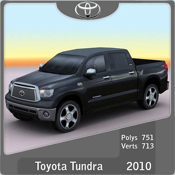 2010 toyota tundra 3d model