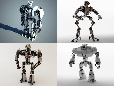 robot bot collecti 3d model